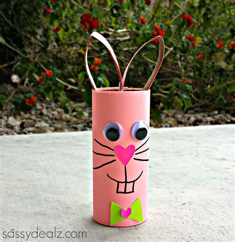 Toilet Paper Roll Bunny Craft - bunny rabbit toilet paper roll craft for crafty morning