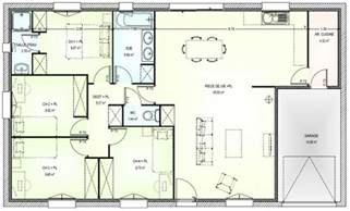 plan plain pied 4 chambres