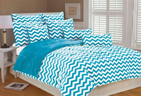 chevron bedding in turquoise and white panda s house