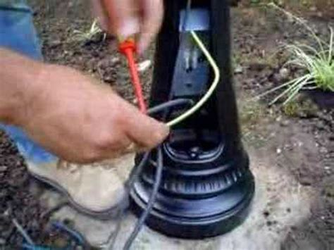 Ace Ls Video On Wiring Your L Post Youtube How To Install An Outdoor Light Post