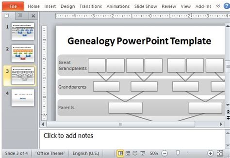 Genealogy Tree Powerpoint Template Powerpoint Genealogy Template