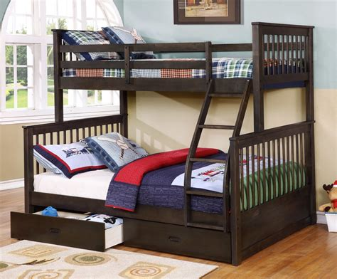 Best Bunk Bed Design Room Bunk Bed Drawers For Storage Brown Color Classic Look And