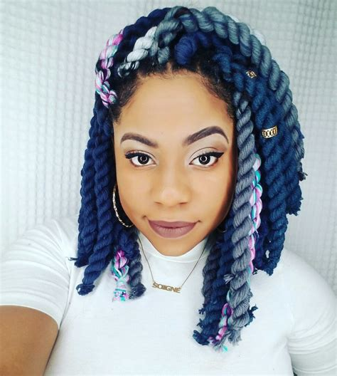 yarn bob boxbraids 17 best images about hair on pinterest bobs curly