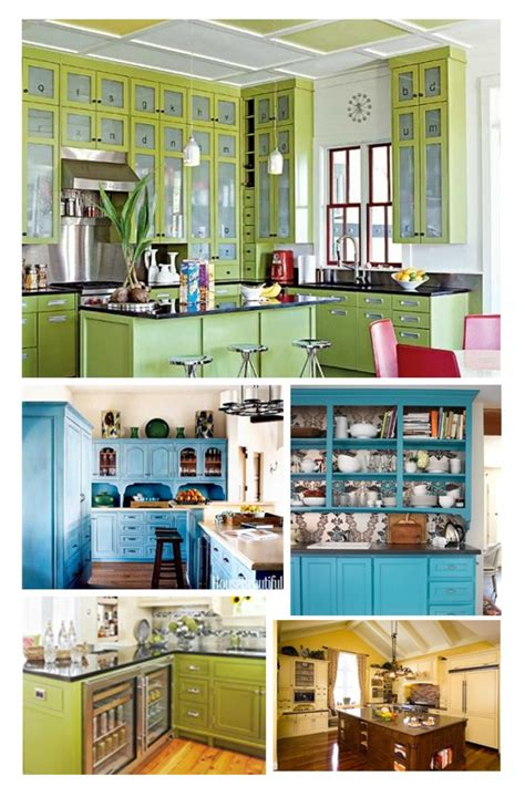 colorful kitchen cabinets ideas beautiful colorful kitchens classic design ideas with