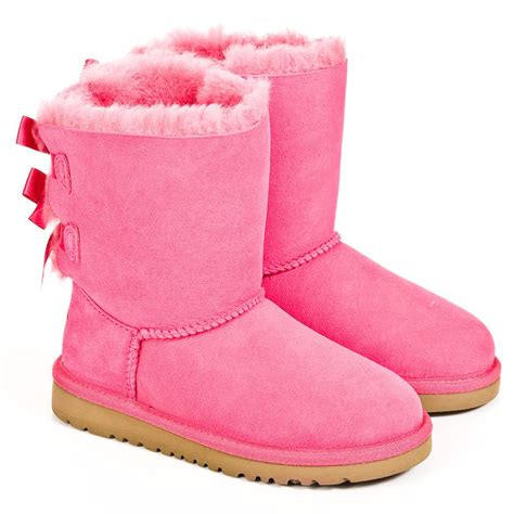 pink ugg boots with bows cerise bailey bow pink ugg 174 boot