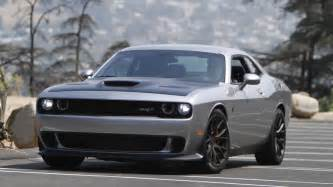dodge challenger srt hellcat   front view gray color   rssportscars
