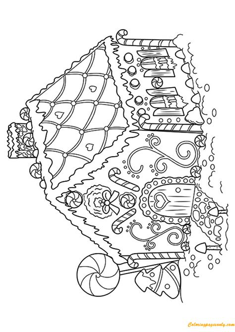 cute gingerbread coloring pages cute gingerbread house coloring page free coloring pages