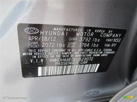 2013 elantra color code n5s for titanium gray metallic photo 66659162 gtcarlot