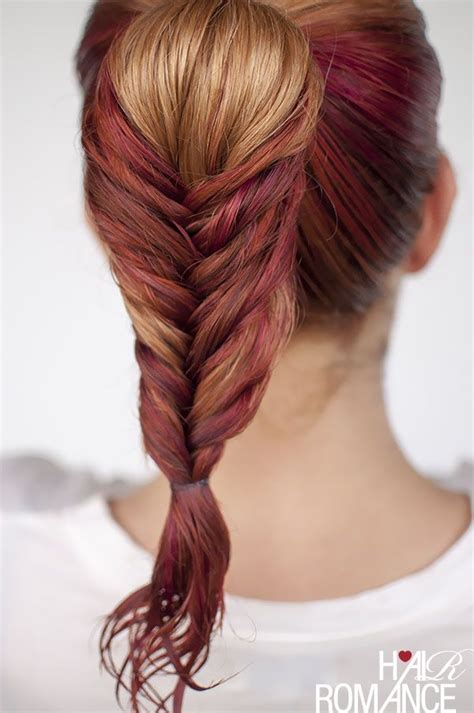 gel ponytail hairstyles hair romance s fishtail braid for wet hair need some gel