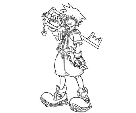 Kingdom Hearts Coloring Pages kingdom hearts color pages coloring home