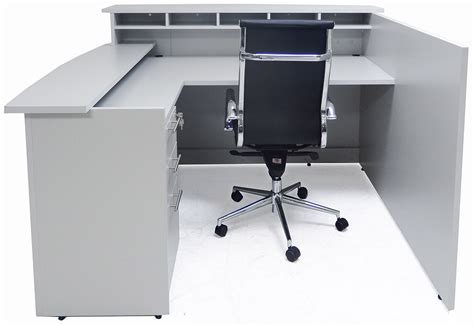 multi head desk l custom multi level l reception desk w right low counter