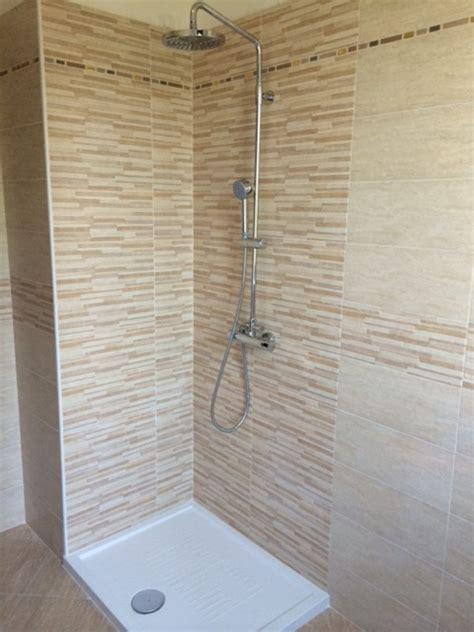 bagno con muretto foto zona doccia tutta in muretto di de castro srl