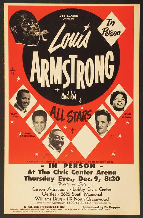 Lois Original lot detail louis armstrong original concert poster