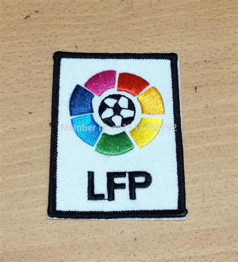 La Liga Lfp Badge 2004 Present Badges embroidery liga lfp logo soccer patch soccer badges flocado la liga lfp patches league