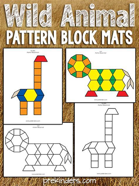 animal pattern games pattern block safari prekinders