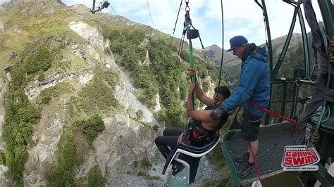 new zealand chair swing canyon swing the chair queenstown new zealand youtube