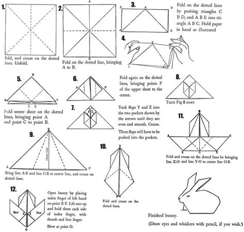 How To Make A Origami Bunny - 149 best images about origami on origami paper