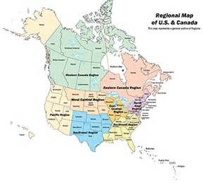 canada regional map map of us and canada map2