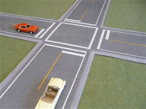 inter section hotz artworks 4 way intersection paved felt highways