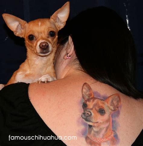 chihuahua tattoo chihuahua meet chiquita isn t she just a