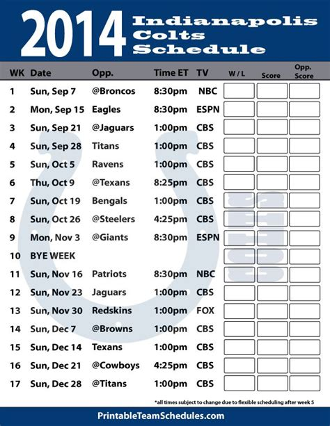 25 best ideas about colts schedule on