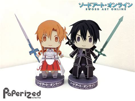 Kirito Papercraft - sword asuna and kirito papercraft by