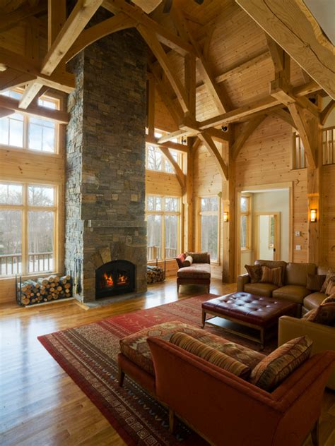 Living Room Theatre Vermont Vermont Ski House Traditional Living Room By Alec