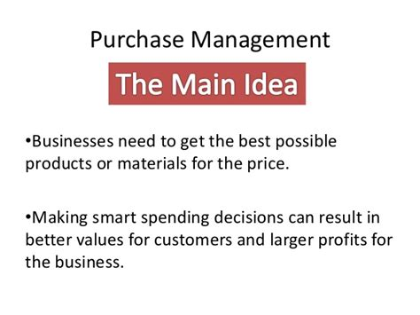 Mba In Purchase Management by Mba Ii Pmom Unit 2 6 Purchase Management A