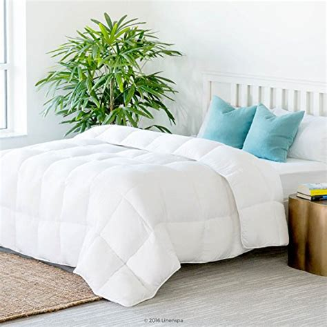 comforter stand linenspa all season white down alternative quilted