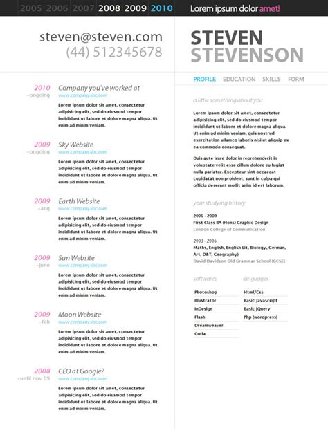 Best Resume Distribution by Html Resume Templates