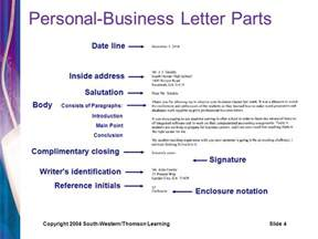 Personal Business Letter Enclosure Notation Personal Business Letters Ppt Video Online Download