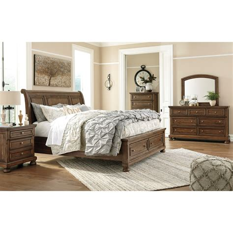 queen size bedroom sets relaxon group ashley signature design flynnter queen bedroom group