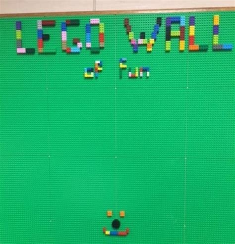 a vertical build how we constructed our makerspace lego wall