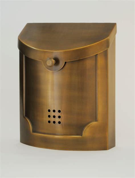 modern wall mount mailbox ecco mailboxes e4bs satin brass wall mounted modern