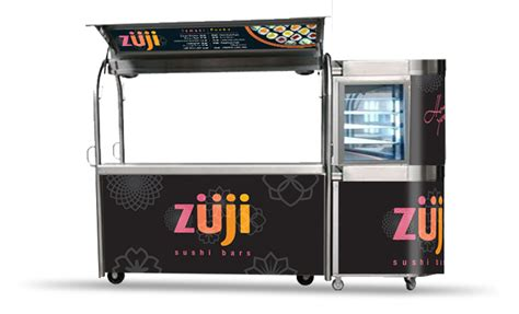 kiosk design brief zuji sushi bar designer brand development kiosk design