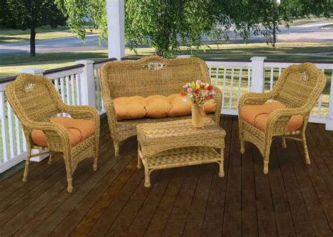 beautiful wicker patio furniture sets all home design ideas