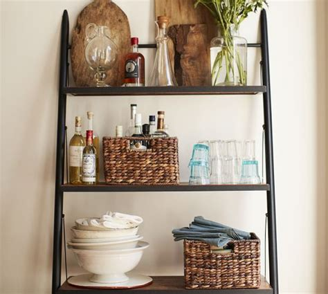 decorating with leaning ladder shelves burger