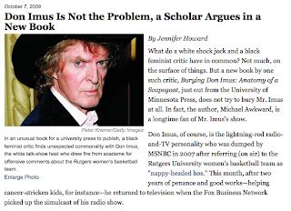 Don Imus Is Not The Issue And Neither Is Or Al by Ump Of Minnesota Press Burying Don Imus