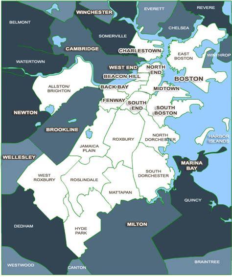 sections of boston boston neighborhood map boston home sweet home pinterest