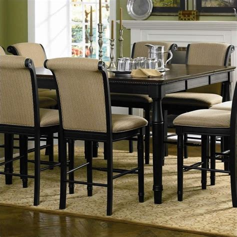 Black Counter Height Dining Table Coaster Cabrillo Square Rectangular Counter Height Dining Table In Black 101828