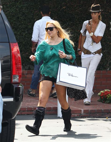 Lindsay Lohan Goes Shopping For Chanel Bags by Pictures Of Lindsay Lohan Shopping At Chanel Popsugar