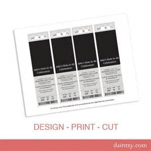 Print Your Own Tickets Template by Event Ticket Photo Invitation Template Printable Diy