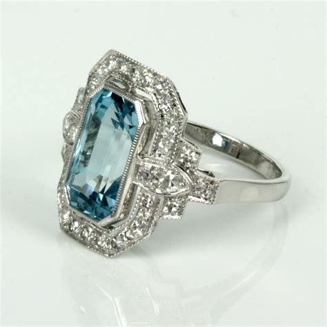 Aquamarine Rings by Buy Aquamarine And Ring In 18ct White Gold Sold