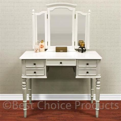 White Vanity Table White Vanity Table Jewelry Makeup Desk 5 Drawer Indoor Home Furniture Furniture Walmart