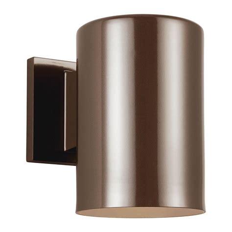 Cylinder Light Fixtures Sea Gull Lighting Outdoor Cylinder Collection 1 Light Bronze Outdoor Wall Fixture 8313801 10