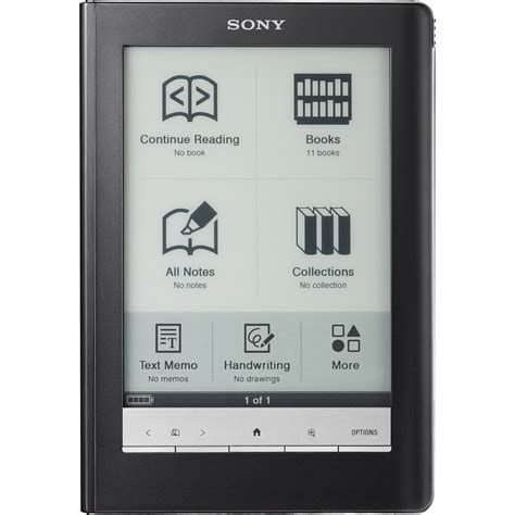 epub format sony reader sony prs600 reader touch edition black prs 600bc b h photo