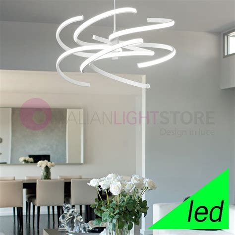 illuminazione a sospensione led spirale lada a sospensione a led design moderno perenz