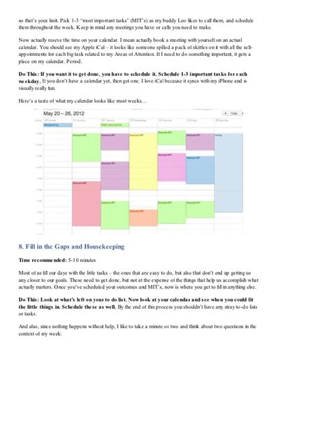 How Tony Robbins Plans His Week My 5 Step Process Free Worksheet D Tony Robbins Rpm Excel Templates
