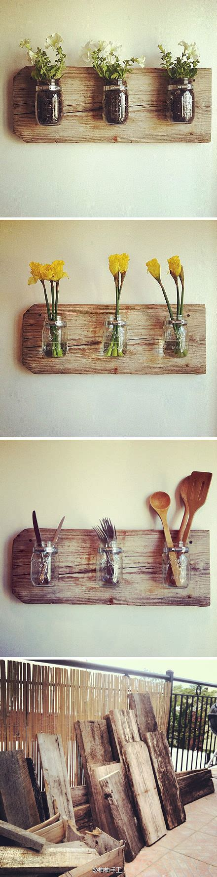 Diy Wood Home Decor with Diy Jar Reclaimed Wood Decor All Gifts Considered