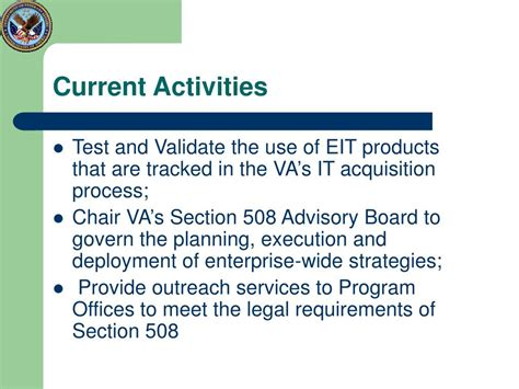 section 508 vpat ppt department of veterans affairs section 508 program